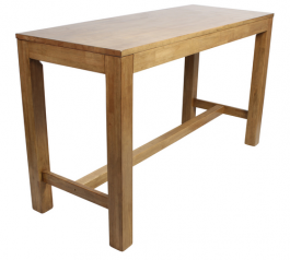 Chunk 1800 x 700mm Timber Bar Table colour LIGHT OAK available to order now!