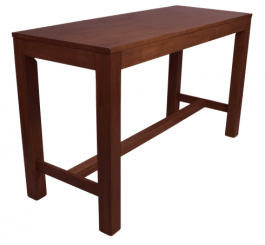 Chunk 1800 x 700mm Timber Bar Table colour WALNUT available to order now!