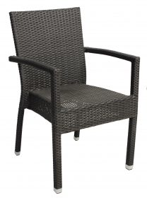 Santiago outdoor wicker arm chair colour CHOCOLATE available to order now!
