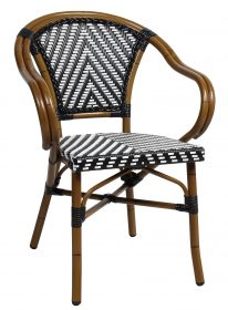 Amalfi outdoor wicker arm chair colour BLUE available to order now!