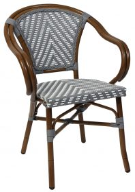 Amalfi outdoor wicker arm chair colour GREY available to order now!