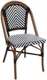 Amalfi outdoor wicker cafe chair colour BLACK available to order now!