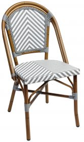 Amalfi outdoor wicker cafe chair colour GREY available to order now!