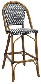 Amalfi outdoor wicker stool 760mm colour BLACK available to order now!