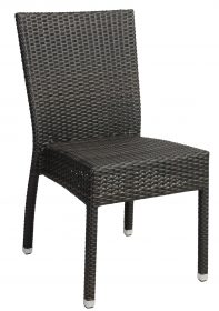 Santiago outdoor wicker café chair colour CHOCOLATE available to order now!