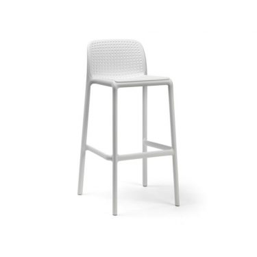 Bora Outdoor Stool 750mm colour WHITE available to order now!