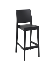 Maya Outdoor Stool 750mm colour BLACK available to order now!