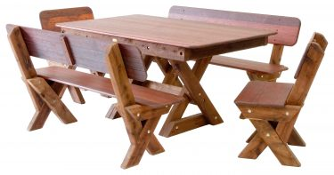 Palm Beach high back Kwila outdoor timber setting available to order now!
