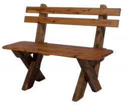 2 Seat Slat Back Cypress Outdoor Timber Bench available to order now!