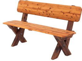 2-3 seat high back Cypress outdoor timber bench available to order now!