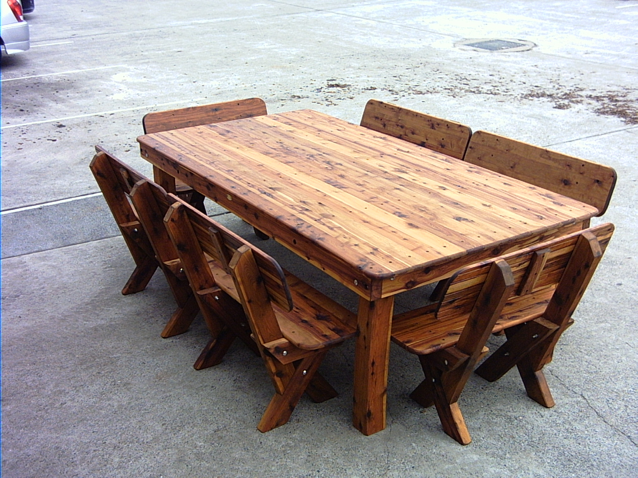Texas High Back Cypress Outdoor Timber Setting Outdoor