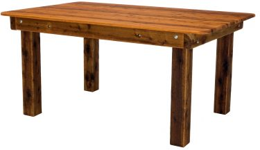 Rectangular Palm Beach Cypress outdoor timber table square legs available to order now!
