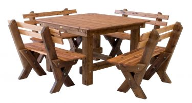 Southport 1400 slat back Cypress outdoor timber setting available to order now!