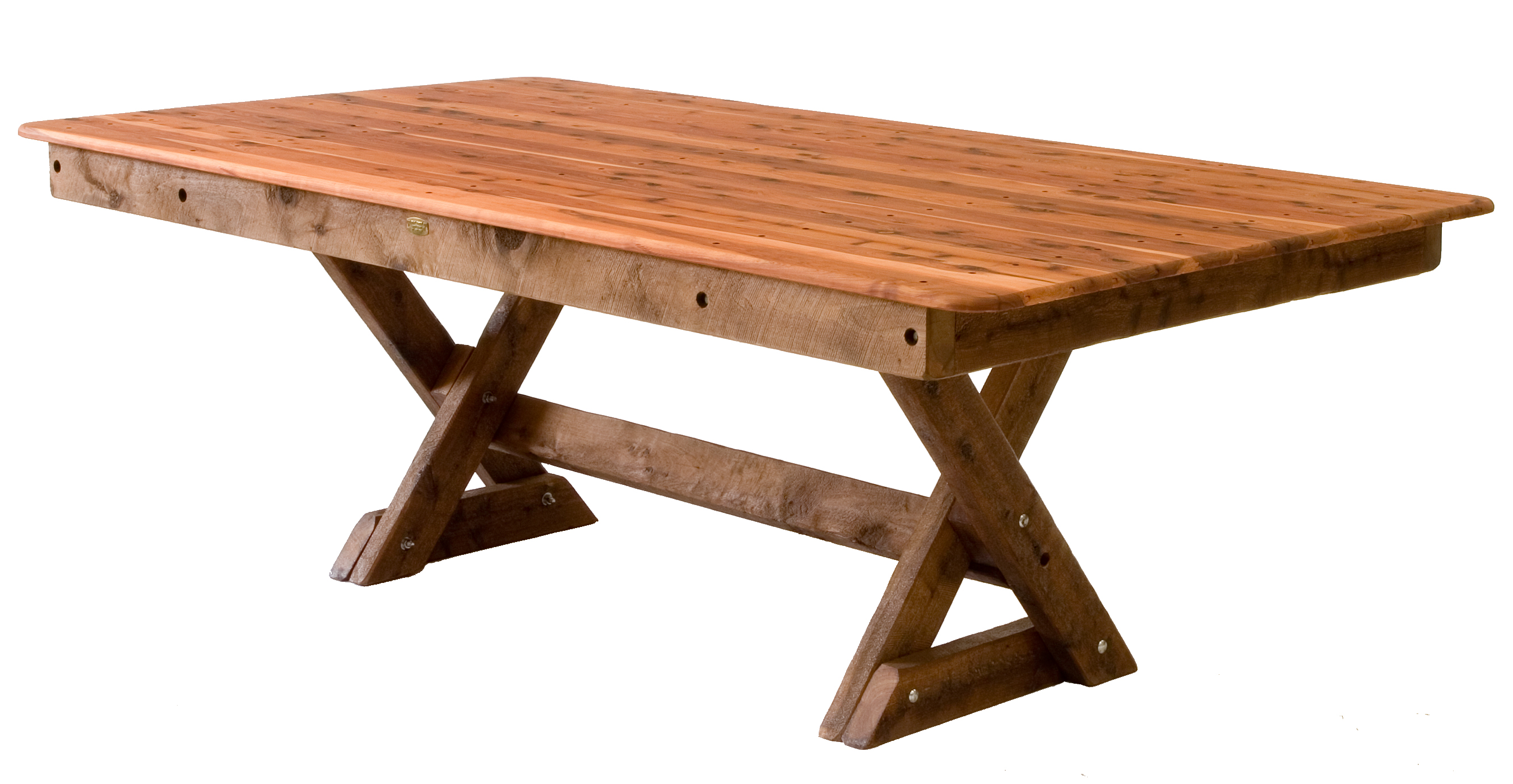 Four seat backless cypress outdoor timber
