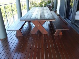 Kirra 2400 Kwila Outdoor Timber Setting available to order now!