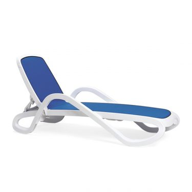 Barbados Sun Lounge in WHITE and BLUE available to order now!