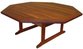 Octagonal Milford Kwila Outdoor Timber Table ready to order now!