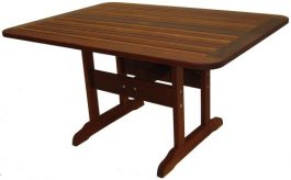 Rectangular Banz Kwila Outdoor Timber Table ready to order now!