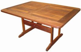 Rectangular Islander Kwila Outdoor Timber Table ready to order now!