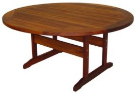 Round Hagen Kwila Outdoor Timber Table ready to order now!