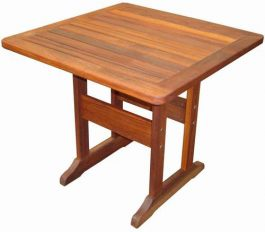 Square Huon Kwila Outdoor Timber Table ready to order now!