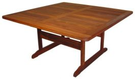 Square Ramu Kwila Outdoor Timber Table ready to order now!