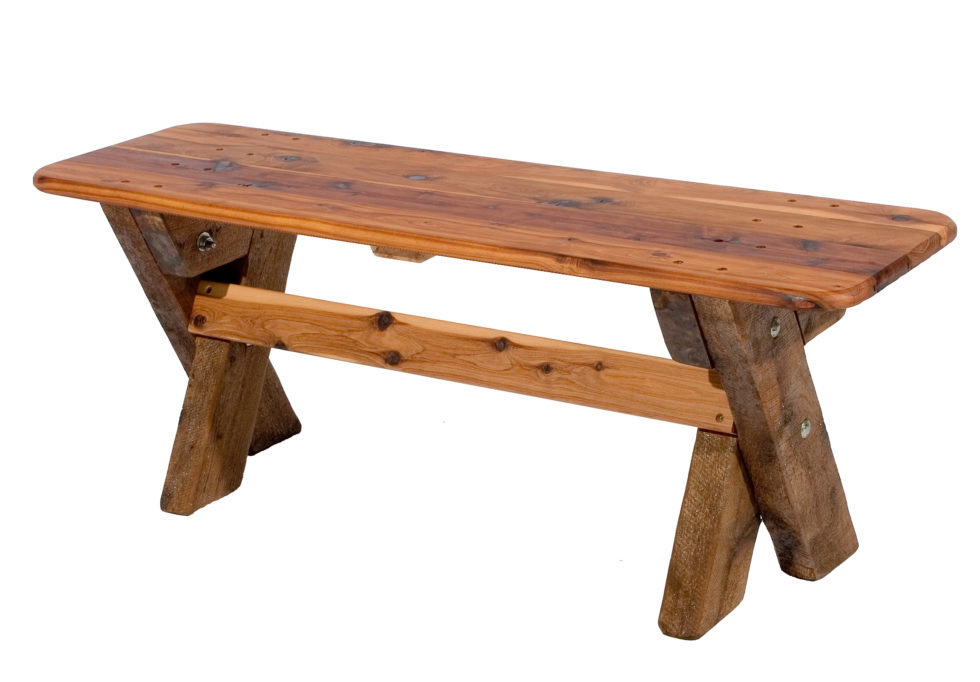 3 Seat Backless Cypress Outdoor Timber Bench