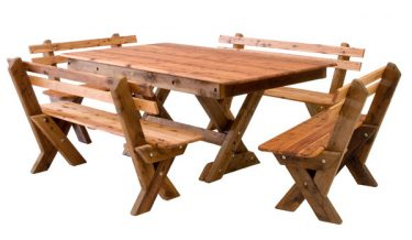 Currumbin Slat Back Cypress Outdoor Timber Setting available to order now!