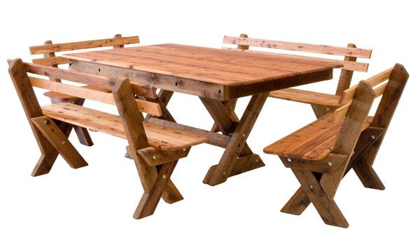 Rectangular Currumbin Cypress Outdoor Timber Table Available ...