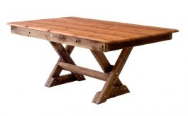 Rectangular Currumbin Cypress outdoor timber table available to order now!