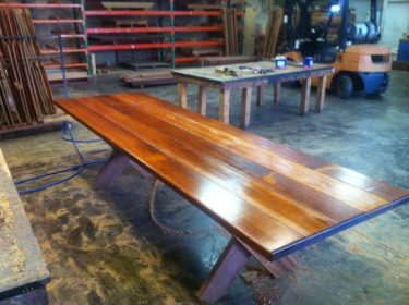 Rectangular Kirra 2950mm Kwila Outdoor Timber Table available to order now!