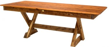 Rectangular Tasman Cypress outdoor timber table available to order now!