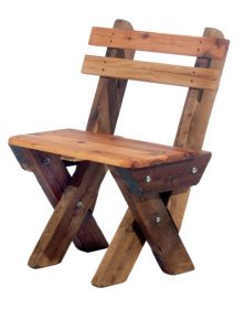 Single seat slat back Cypress outdoor timber bench available to order now!