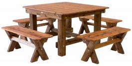 Southport 1600 Backless Cypress outdoor timber setting available to order now!
