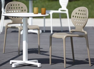 Cross outdoor table base colour WHITE available to order now!