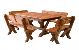Currumbin high back Cypress outdoor timber setting available to order now!