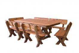 Yamba High Back Cypress Outdoor Timber Setting available to order now!