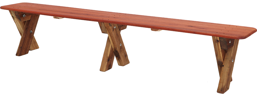 STM 5-6 Seat Backless Kwila Outdoor Timber Bench