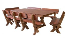 Yamba High Back Kwila Outdoor Timber Setting available to order now!
