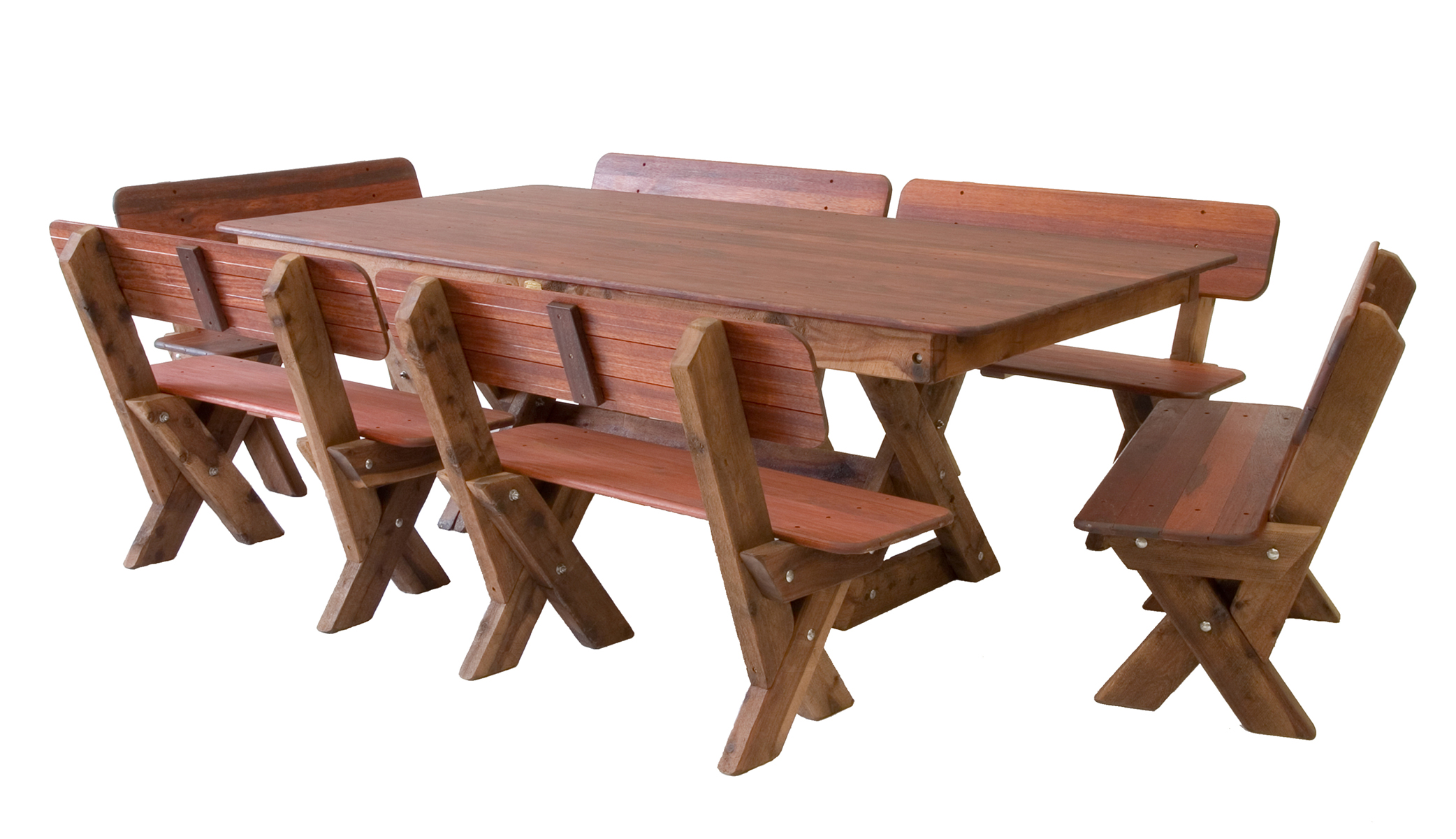 Yamba high back kwila outdoor timber setting