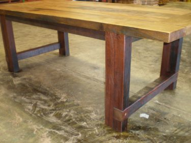 Recycled timber table MN available to order now!
