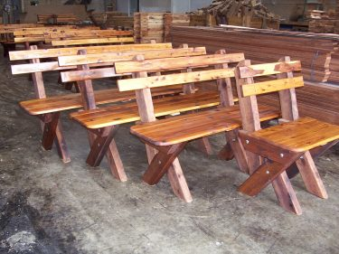 2-3 Seat Slat Back Cypress Outdoor Timber Bench available to order now!