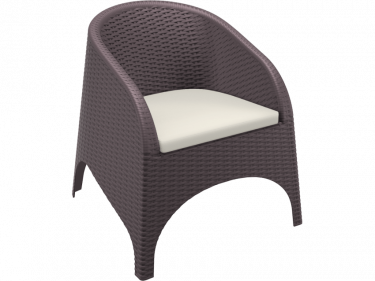 Aruba Outdoor Tub Chair colour CHOCOLATE available to order now!