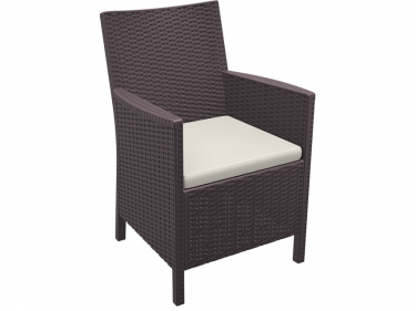 California Outdoor Tub Chair colour CHOCOLATE available to order now!