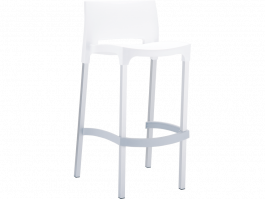 Gio Outdoor Stool colour WHITE available to order now!