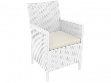 California Outdoor Tub Chair colour WHITE available to order now!