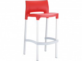 Gio Outdoor Stool colour RED available to order now!