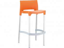 Gio Outdoor Stool colour ORANGE available to order now!
