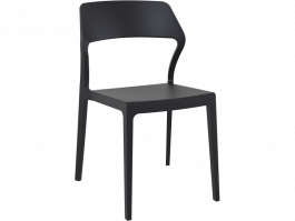 Snow Outdoor Café Chair colour BLACK available to order now!