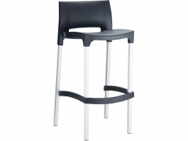 Gio Outdoor Stool colour BLACK available to order now!